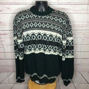 Hardwood & Pine Mens Vintage Sweater Ski Green